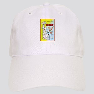 Delaware Map Greetings Cap