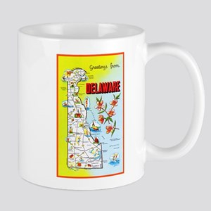 Delaware Map Greetings Mug