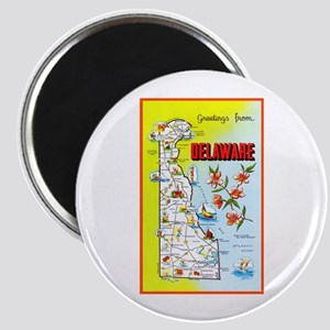 Delaware Map Greetings Magnet