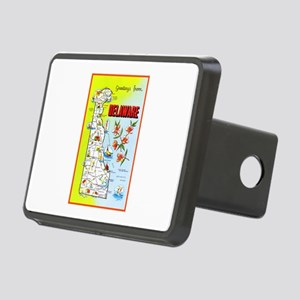 Delaware Map Greetings Rectangular Hitch Cover