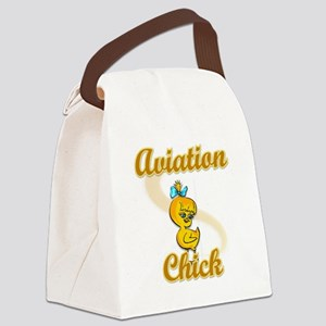 Aviation Chick #2 Canvas Lunch Bag