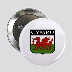 "Wales Coat of Arms 2.25"" Button"