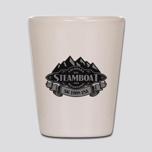 Steamboat Mountain Emblem Shot Glass