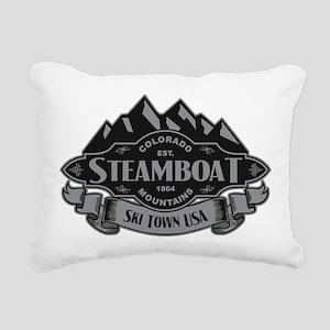 Steamboat Mountain Emblem Rectangular Canvas Pillo