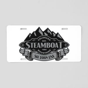 Steamboat Mountain Emblem Aluminum License Plate