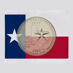 Texas Quarter 2004 Throw Blanket