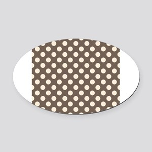Dots on Gray Oval Car Magnet