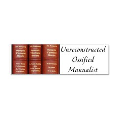 ossified Car Magnet 10 x 3
