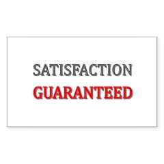 Satisfaction Guaranteed Sticker (Rectangle 10 pk)
