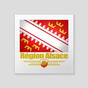 """Alsace (Flag 10) Square Sticker 3"""" x 3"""""""