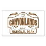 Canyonlands National Par Sticker (Rectangle 10 pk)
