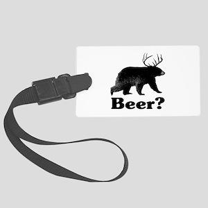 Beer? Large Luggage Tag