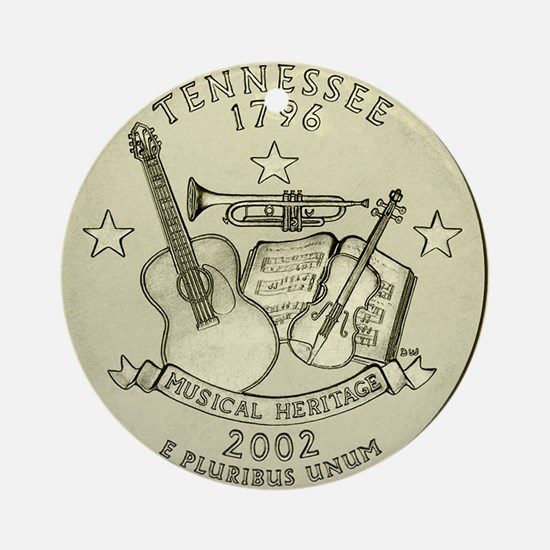 Tennessee Quarter 2002 Basic Round Ornament
