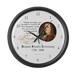 Ben Franklin - Control Large Wall Clock