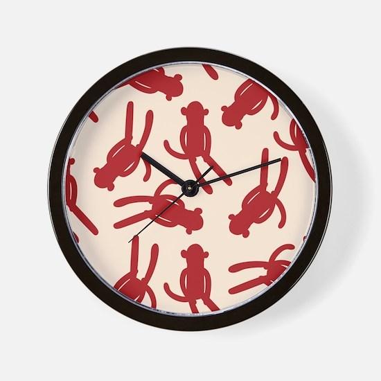 Silhouette Sock Monkey Wall Clock