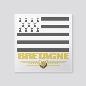 "Brittany (Flag 10) Square Sticker 3"" x 3"""