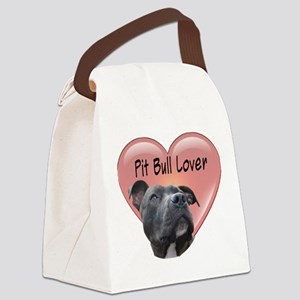 Pit Bull Lover Canvas Lunch Bag
