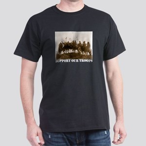 Support Our Troops Black T-Shirt