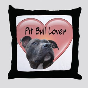 Pit Bull Lover Throw Pillow