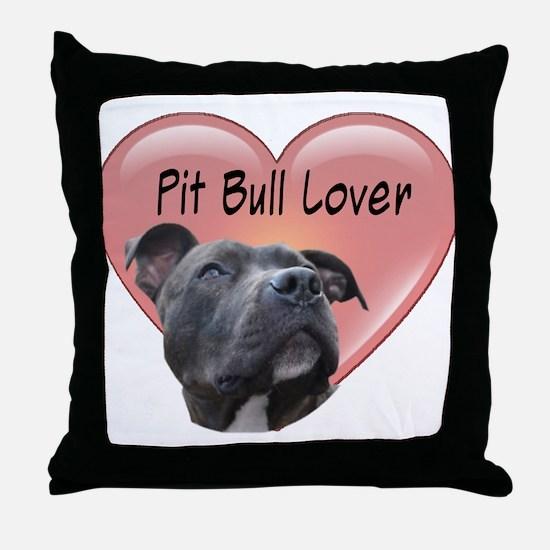 Pit Bull Lover Throw Pillow