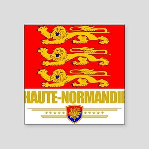 "Haute-Normandie (Flag 10) Square Sticker 3"" x"