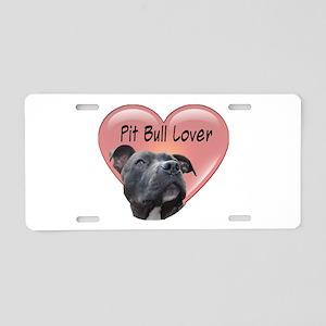Pit Bull Lover Aluminum License Plate