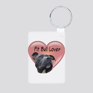 Pit Bull Lover Aluminum Photo Keychain