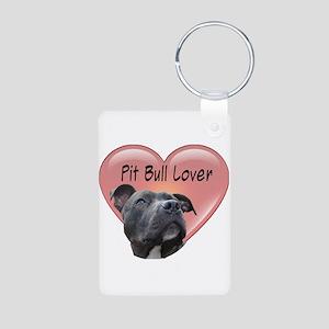 Pit Bull Lover Aluminum Photo Keychain