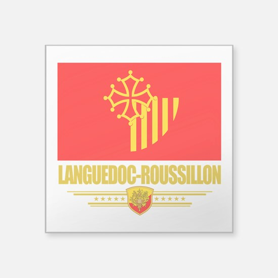 Languedoc-Roussillon (Flag 10).png Square Sticker