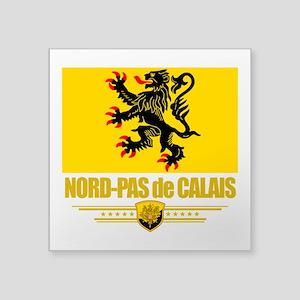 """Nord-Pas de Calais (Flag 10) Square Sticker 3"""""""