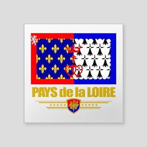 """Pays de la Loire (Flag 10) Square Sticker 3"""" x"""