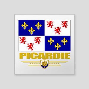 "Picardie (Flag 10) Square Sticker 3"" x 3"""