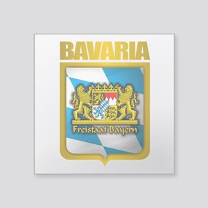 "Bavarian Gold Square Sticker 3"" x 3"""