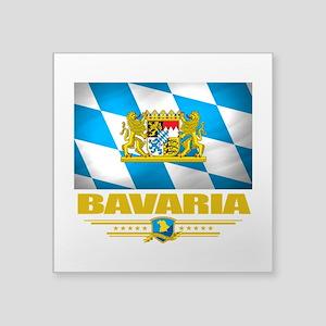 """Bavaria (Flag 10) Square Sticker 3"""" x 3"""""""