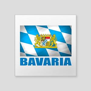 """Bavaria Flag COA Square Sticker 3"""" x 3"""""""