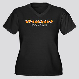 Trick-Or-Treat (Candy Corn) Plus Size T-Shirt