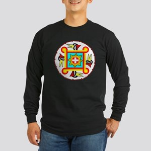 SOUTHEAST INDIAN DESIGN Long Sleeve Dark T-Shirt
