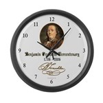 Ben Franklin Tercentenary Large Wall Clock
