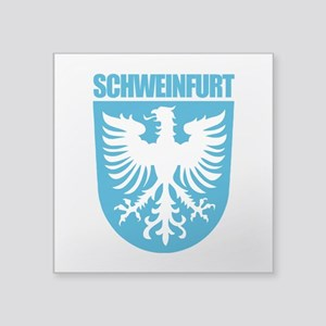 """Schweinfurt Square Sticker 3"""" x 3"""""""