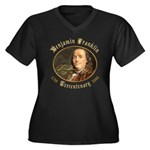 Ben Franklin Tercentenary Women's Plus Size V-Neck