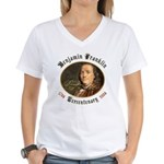 Ben Franklin Tercentenary Women's V-Neck T-Shirt