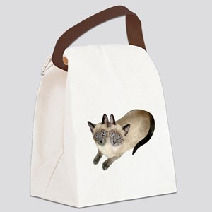 Siamese Twins Canvas Lunch Bag