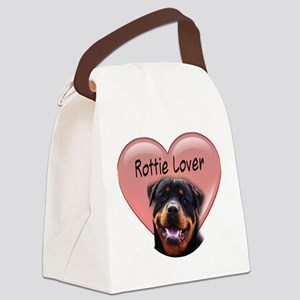 Rottie Lover Canvas Lunch Bag