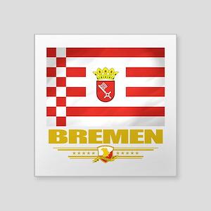 "Bremen (Flag 10)2 Square Sticker 3"" x 3"""