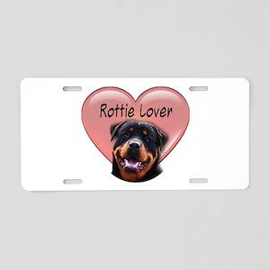 Rottie Lover Aluminum License Plate