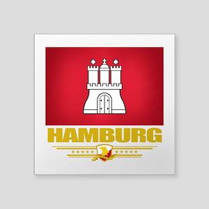 """Hamburg (Flag 10) Square Sticker 3"""" x 3"""""""