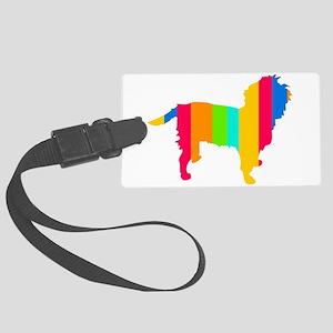 Rainbow Affen Large Luggage Tag