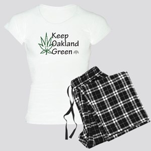 keep oakland green Women's Light Pajamas