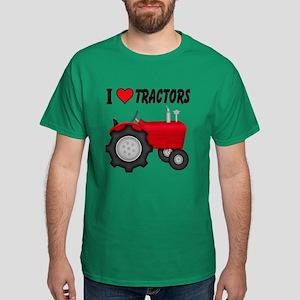 I Love (Heart) Tractors Dark T-Shirt