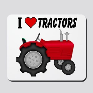 I Love (Heart) Tractors Mousepad